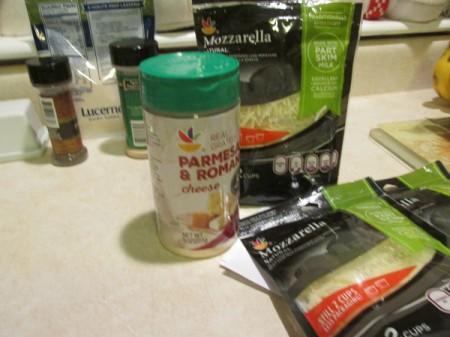 Alfredo Spinach Lasagna ingredients