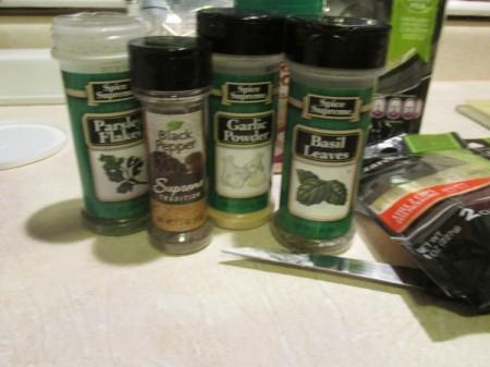 Alfredo Spinach Lasagna herb ingredients
