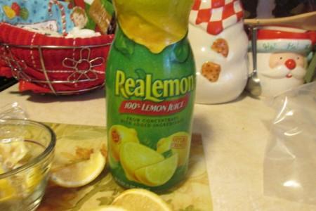 Using Lemon as an Odor Remover - bottle of real lemon juice