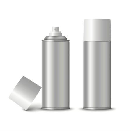 Spray cans of spray varnish.