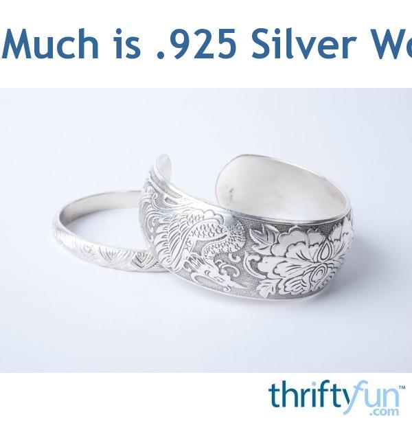 How Much is  925 Silver Worth? | ThriftyFun