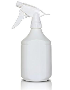 Spray bottle of homemade wrinkle reducer.
