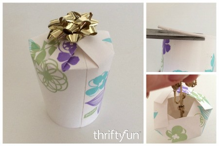 Making a Paper Cup Gift Box