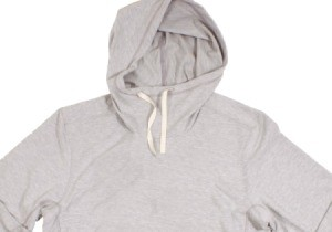 A hoody with a drawstring