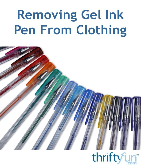 removing gel ink pen from clothing thriftyfun. Black Bedroom Furniture Sets. Home Design Ideas