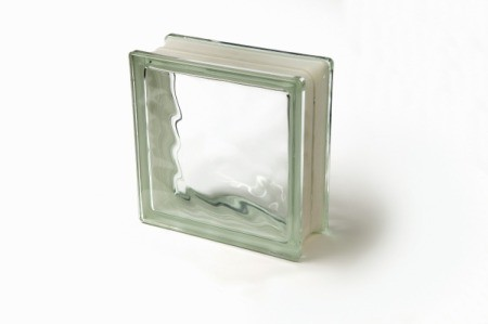 Photo of a glass block.