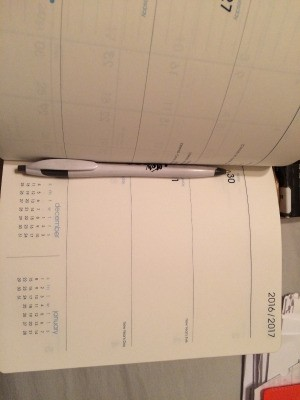 A datebook that can be used as a journal.