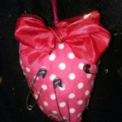 Pink Polka Dot Safety Pin Cushion