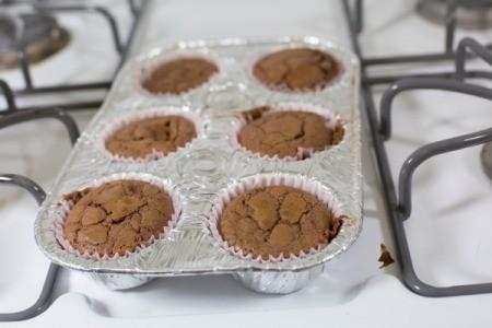 Baking Brownies in Cupcake Liners