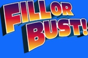 The Fill or Bust logo from the card game.