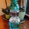 Thriftstore Glass Garden Tower