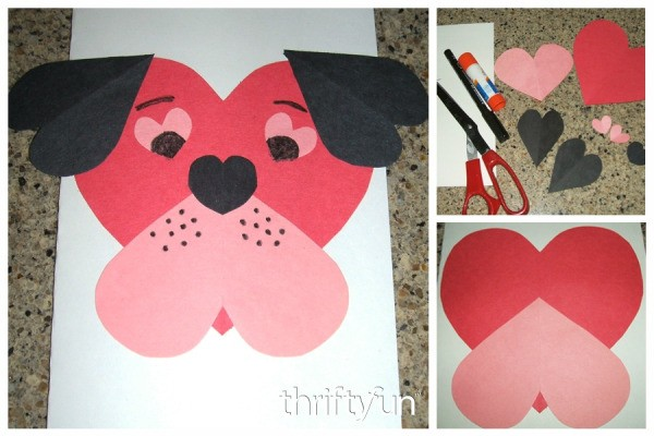 Making a Puppy Dog Valentine Card – Construction Paper Valentine Cards