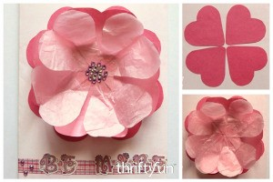 3D Valentine Heart Flower Card
