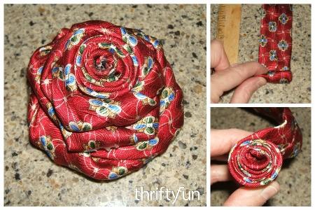 Men's Silk Tie Rose Pin