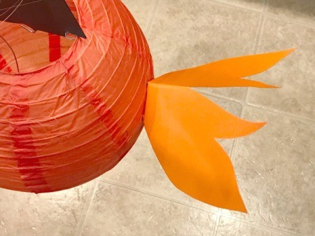 'Sharky' Goldfish Paper Lantern Decoration - tail glued on