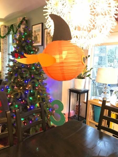 'Sharky' Goldfish Paper Lantern Decoration - side view