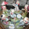 Display Figurine Collection in Crystal Bowl