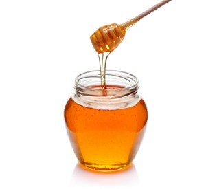 A jar of honey.