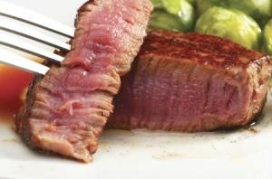 Medium rare filet mignon steaks.