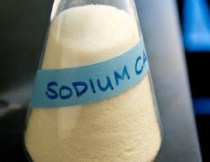 Bottle of Sodium carbonate.