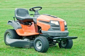 Husqvarna Riding Mower on grass.