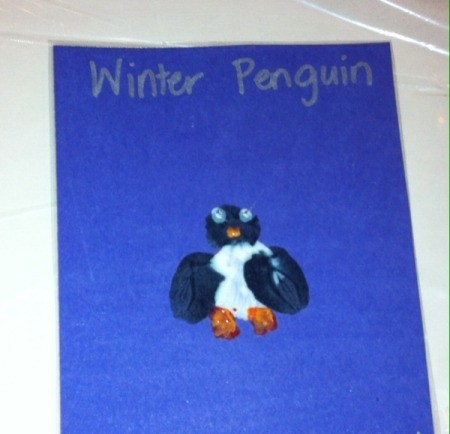 Fingerprint Penguin - allow to dry and laminate if desired then you can add a title, name, and date