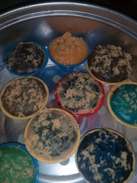 Puto Cheese cups steamed