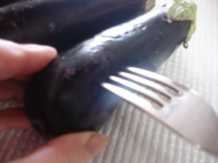 forking eggplant