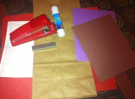 Doctor's Bag Craft - supplies for making the bag