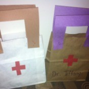 Doctor's Bag Craft - two completed bags