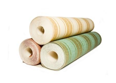 Rolls of wallpaper.