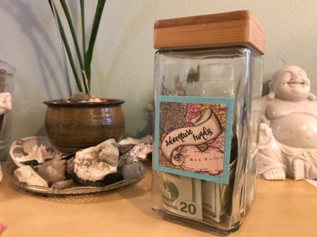 Adventure Funds Jar - fill with money and gift