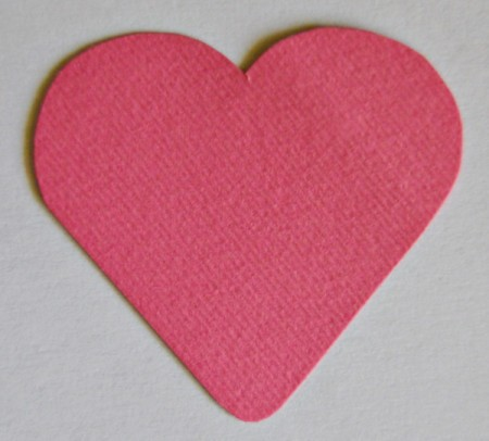 Abundant Hearts Valentine's Day Card - use cookie cutter to trace heart shape on paper and cut out