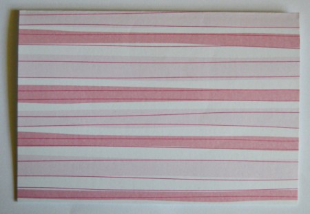 Abundant Hearts Valentine's Day Card - score pink and white striped cardstock to create the card