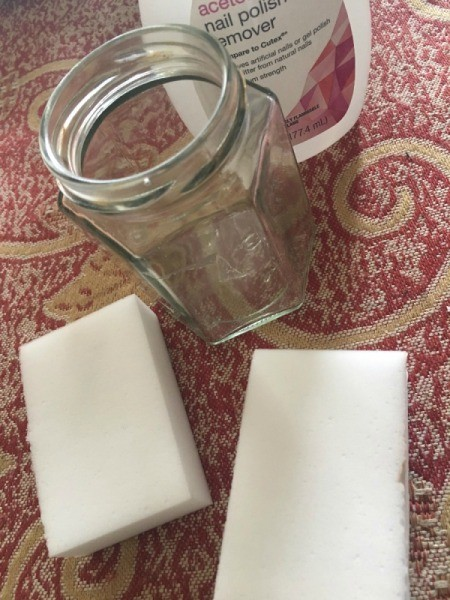 DIY Nail Polish Remover Jar - supplies