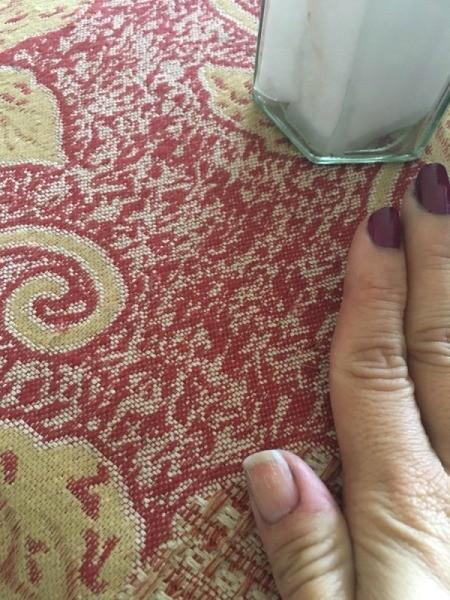 DIY Nail Polish Remover Jar - another view of clean thumb nail