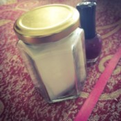 DIY Nail Polish Remover Jar - nail polish remover jar and bottle of polish
