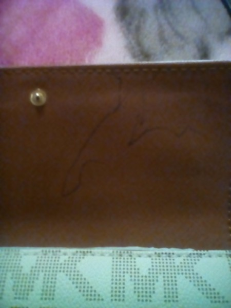 Removing Ink on a Leather Wallet - ink on a brown wallet