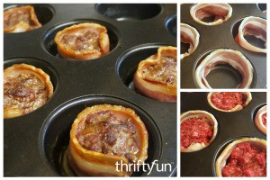 Bacon Wrapped Mini Meat Loaf Recipe