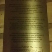 Typesetting Poetry on Bronze  - Sheet - poem printed on bronze sheet