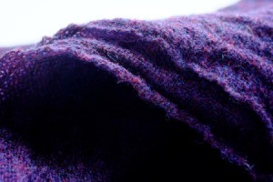 dyed purple fabric