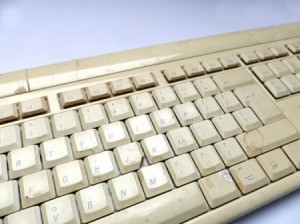 yellowed keyboard