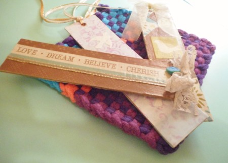 Sturdy Chipboard Bookmarks - finished bookmarks