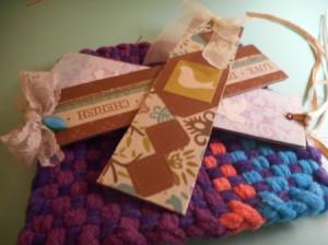 Sturdy Chipboard Bookmarks - tie a ribbon through the top  and your are finished bookmarks
