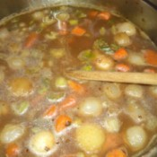 vegetables added to broth