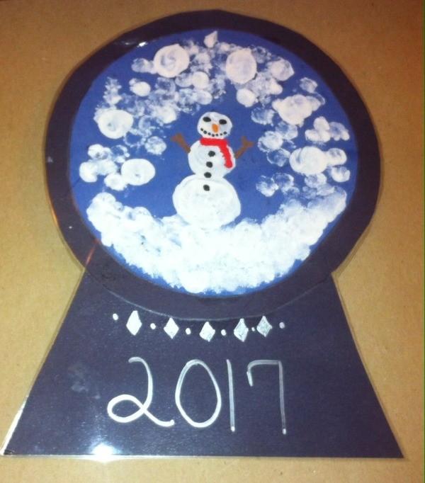 Fingerprint Snow Globe Kids Craft Thriftyfun