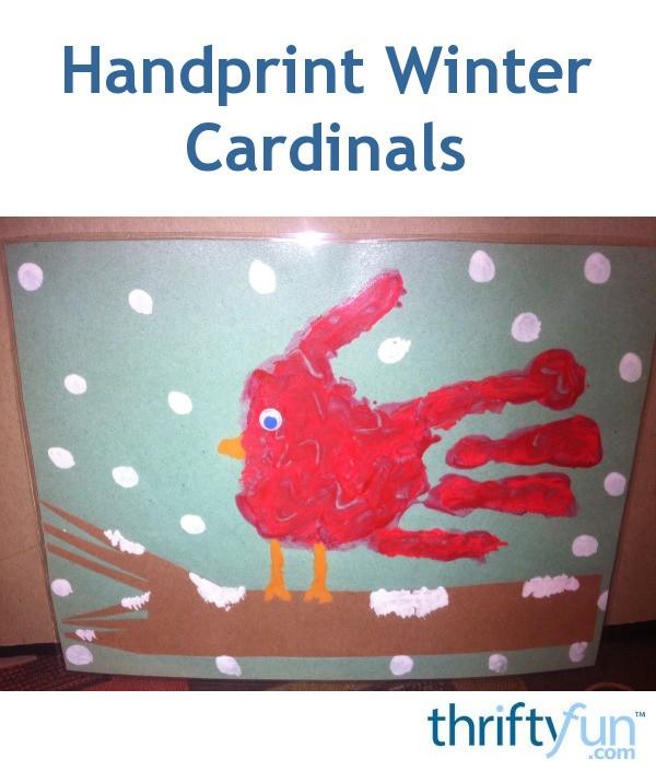 Handprint Winter Cardinals Thriftyfun