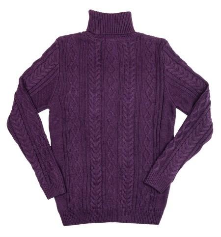 purple wool sweater