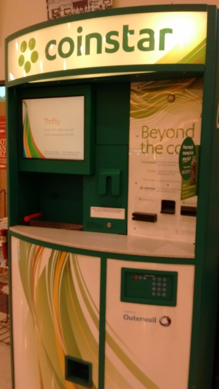 A Coinstar machine, for counting coins.
