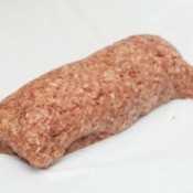 A meatloaf made with ground meat, vegetables and egg.